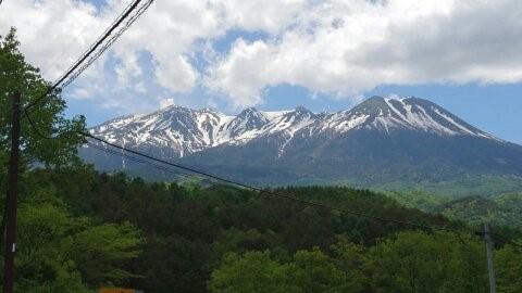 雄大な御嶽山の写真